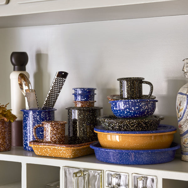 HAY Enamelware - Speckled Cups and Bowls