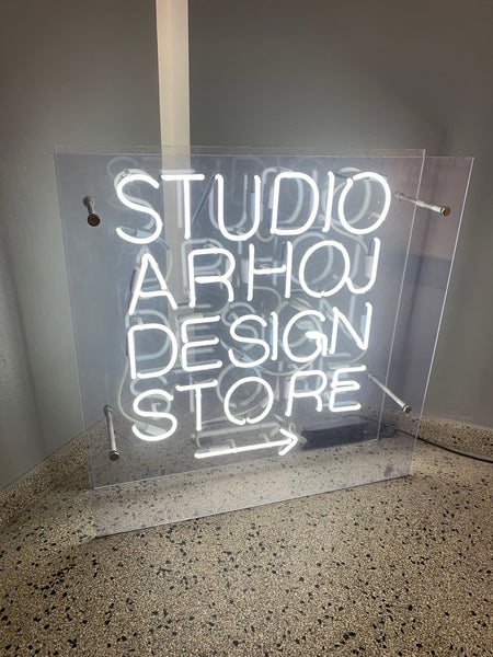Studio Arhoj Design Store Sign
