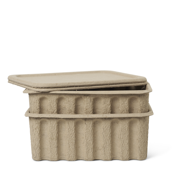 Ferm Living Paper Pulp Box - Large (Set of 2)