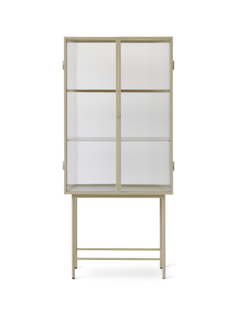 Ferm Living Haze Vitrine Cabinet - Reeded Glass