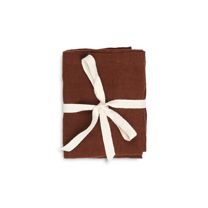 Ferm Living Linen Napkins - Cinnamon (Set of 2)