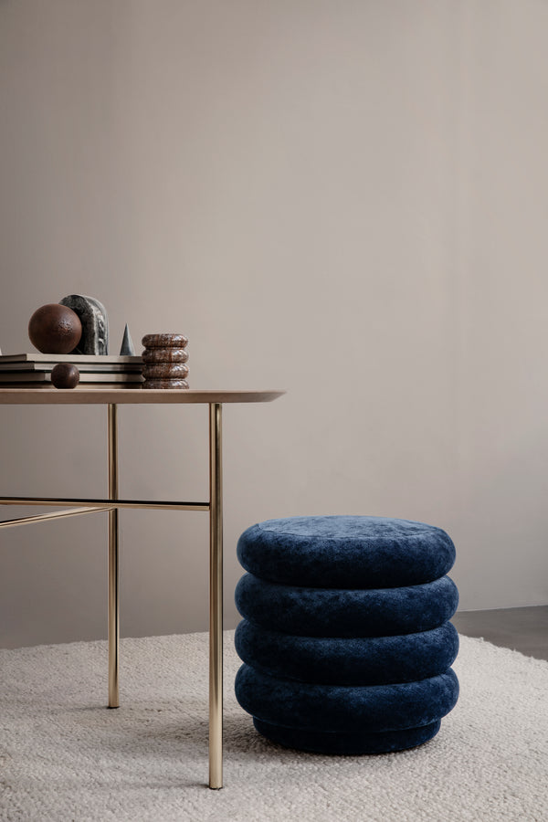 Ferm Living Pouf Round - Faded Velvet - Small