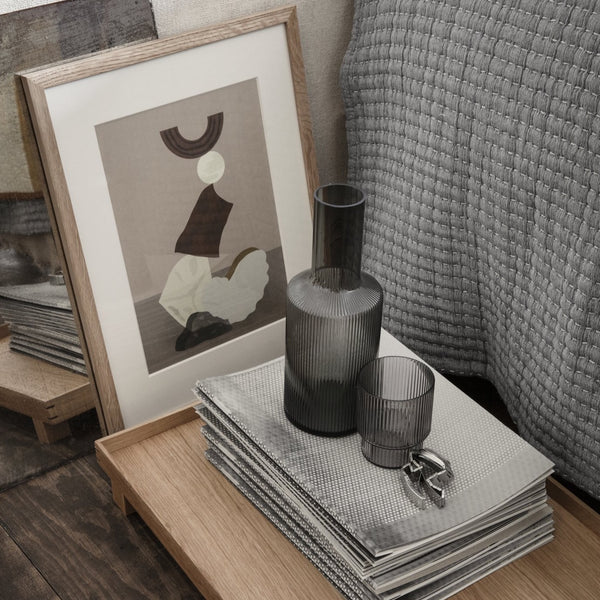 Ferm Living Ripple Carafe - Smoked Grey