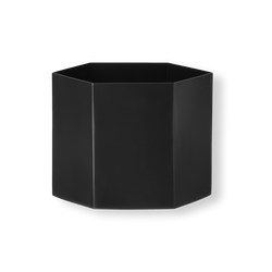 Ferm Living Hexagon Pot - Black - Extra Large