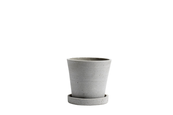 HAY Flowerpot with Saucer - Small - Grey