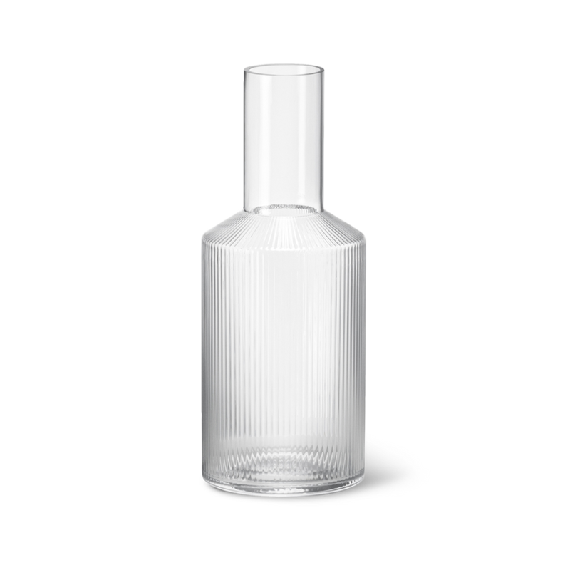 Ferm Living Ripple Carafe - Clear