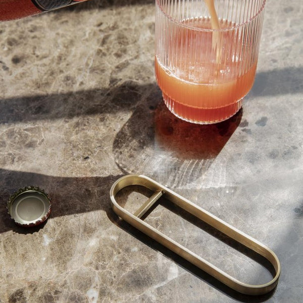 Ferm Living Fein Brass Bottle Opener