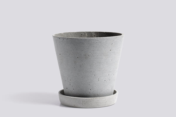 HAY Flowerpot with Saucer - Large - Grey