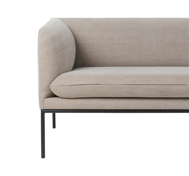Ferm Living Turn Sofa 2 Seater - Cotton/Linen - Natural
