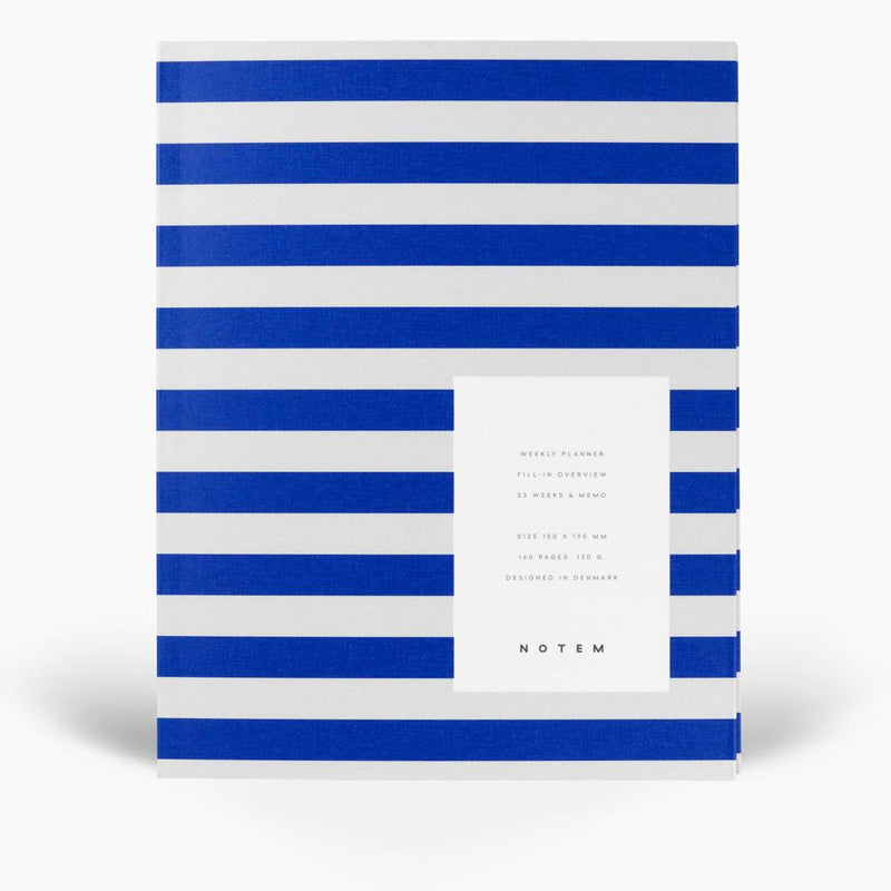Notem UMA Weekly Planner - Bright Blue Stripes