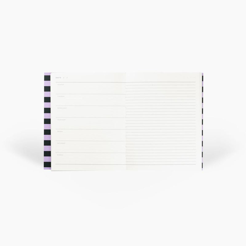 Notem UMA Weekly Planner - Lavender & Green Stripes