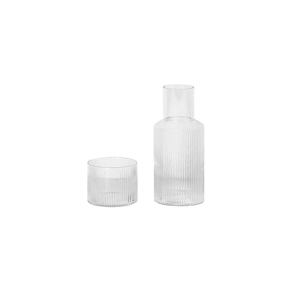 Ferm Living Ripple Carafe Set - Clear