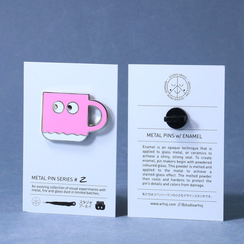 Studio Arhoj Metal Pin - Series #2 - Pink Chug Mug