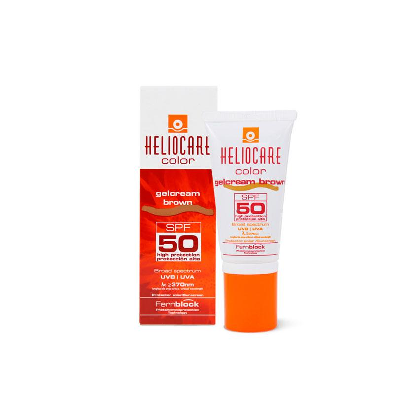 GELCREAM SPF 50 COLOR BROWN 50 ML HELIOCARE (590632419379)