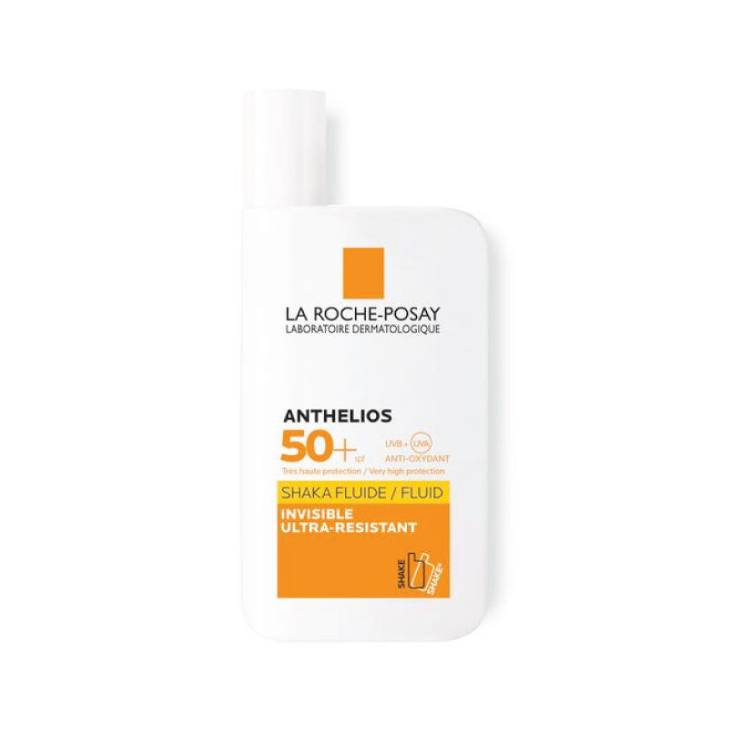 ANTHELIOS SPF 50+  SHAKA sin color FLUIDO INVISIBLE ULTRARESISTENTE X 50 ML - Bellefarma (1796647125043)