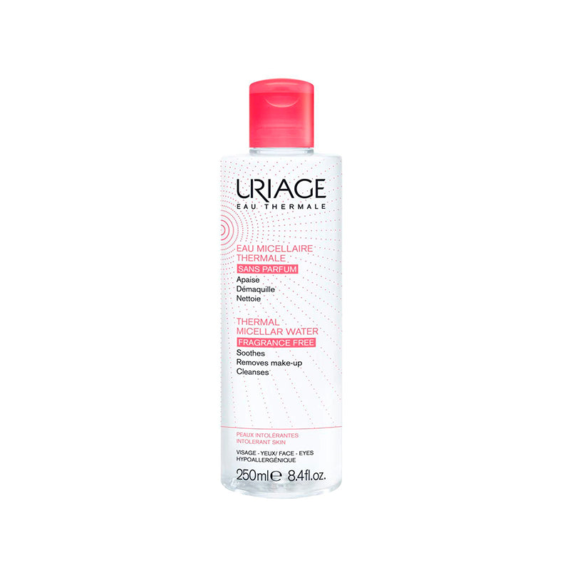 AGUA MICELAR TERMAL PIELES CON ROJECES 250 ML URIAGE - Bellefarma (590657650739)