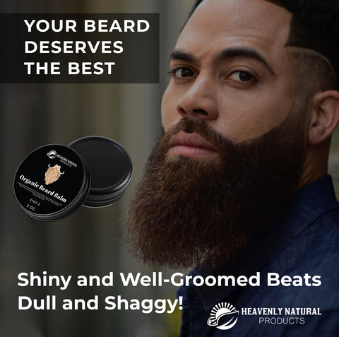 Beard Balm - All Natural 100% 2oz. - Heavenly Natural Products
