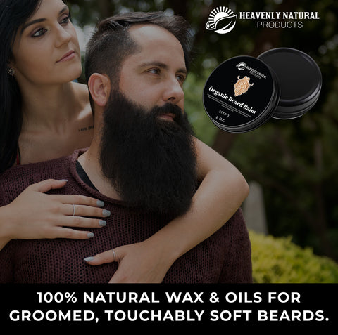 Beard Balm - All Natural 100% 2oz. - C60 Oil