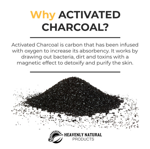 Charcoal Gel Facial Cleanser - All Natural 6 oz - Heavenly Natural Products