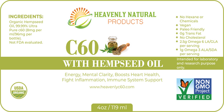 HEMPSEED C60 ANTI-VIRAL COMBO (C60 HEMPSEED OIL & HEAVENLY SILVER) - Heavenly Natural Products