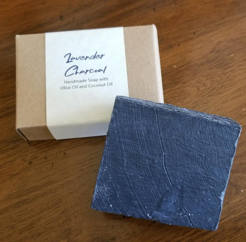 LAVENDER AND ACTIVATED CHARCOAL DETOXING SOAP BAR - C60 Oil