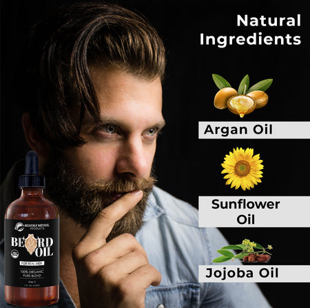 Beard Oil - All Natural 100% 4oz. - Heavenly Natural Products