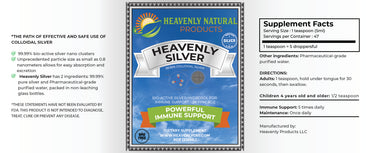 Heavenly Silver Daily Immune System Support - Heavenly Natural Products
