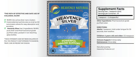 HEMPSEED C60 & HEAVENLY SILVER COMBO - Heavenly Natural Products