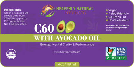 AVOCADO C60 AND HEAVENLY SILVER COMBO - C60 Oil