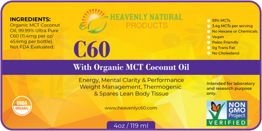 C60 MCT Thermogenic Oil (Coconut Oil) - Heavenly Natural Products