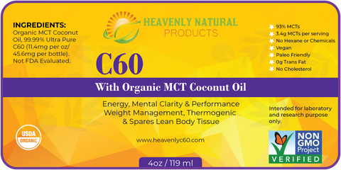 C60 MCT Thermogenic Oil (Buy 2 and Save) - Heavenly Natural Products