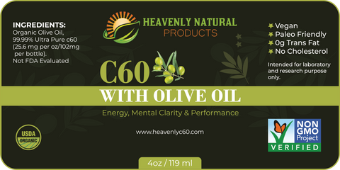 C60 Olive Oil (Buy 4 and Save) - Heavenly Natural Products