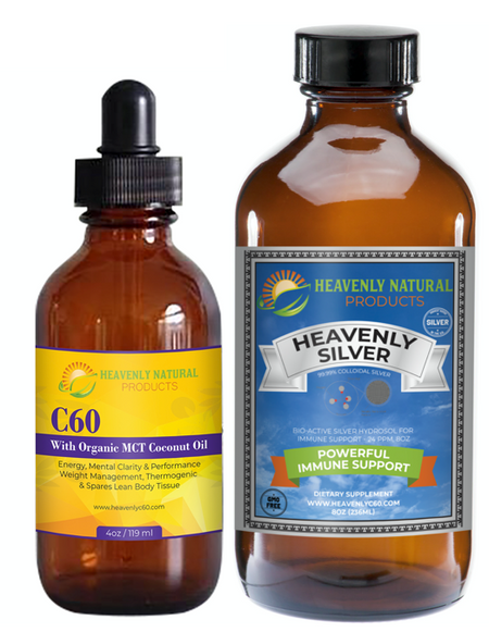MCT OIL C60 ANTI-VIRAL COMBO - VIRUS PREVENTION - Heavenly Natural Products