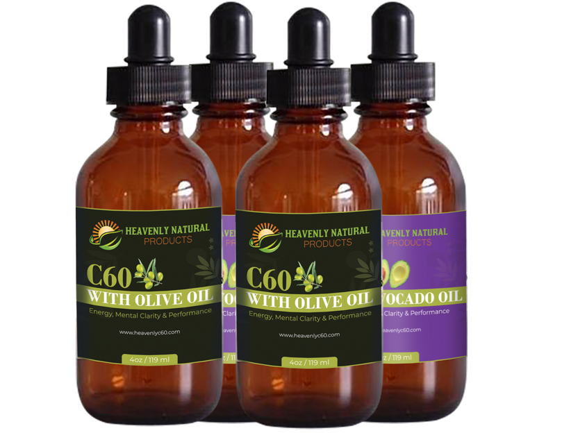 C60 Olive Oil & Avocado Oil Combo (Buy 4 and Save) - Heavenly Natural Products