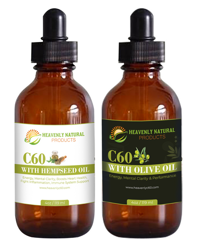 C60 Olive Oil & Hempseed Oil Combo (Buy 2 and Save) - Heavenly Natural Products