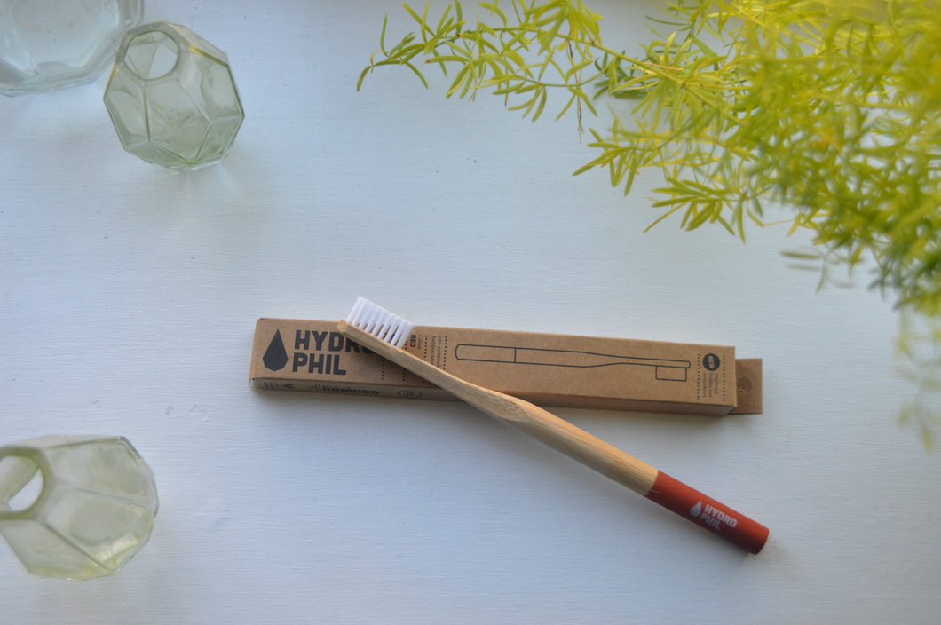 Sustainable Bamboo Toothbrush - Medium/Hard Bristle Red