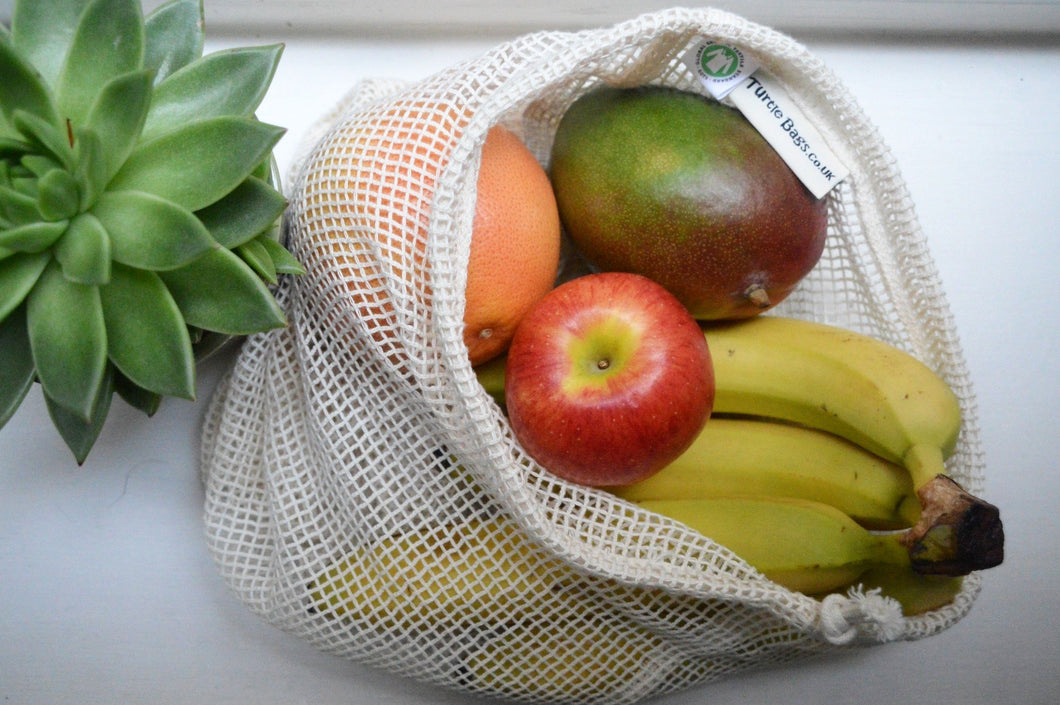 Sustainable, Zero Waste, Reusable Cotton String Bag
