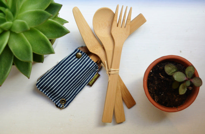 Sustainable / Zero Waste / Reusable /  Plastic Free / Bamboo Cutlery Set