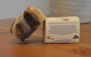 Chocolate and Coconut Milk Soap Bar 120g