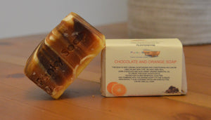 Chocolate and Orange Soap 120g