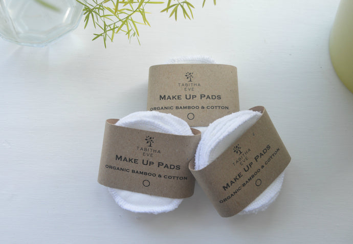 Organic Cotton and Bamboo Reusable Make Up Wipes - Pack of 10