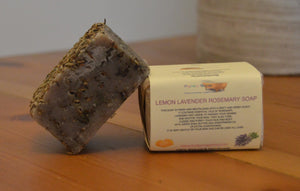 Lavender Lemon and Rosemary Soap Bar 120g