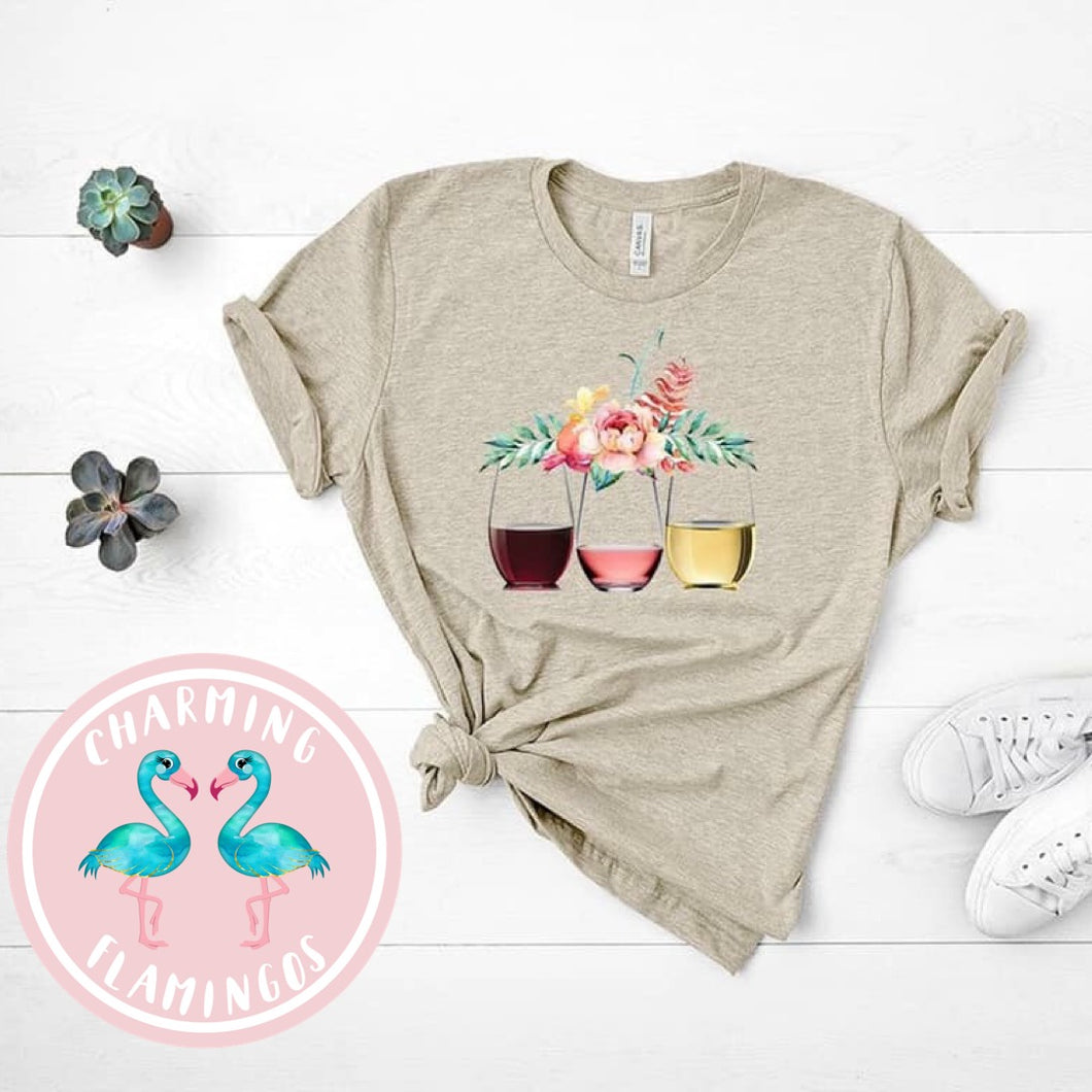 Wine Cups Graphic Tee