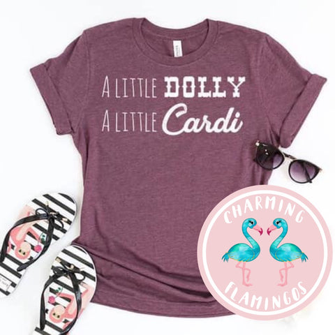 A Little Dolly A Little Cardi Graphic Tee