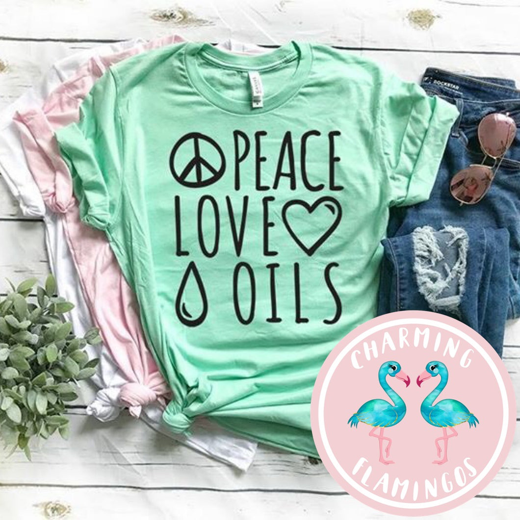 Peace, Love & Oils Graphic Tee
