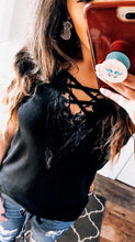 Black Lace Up Cami