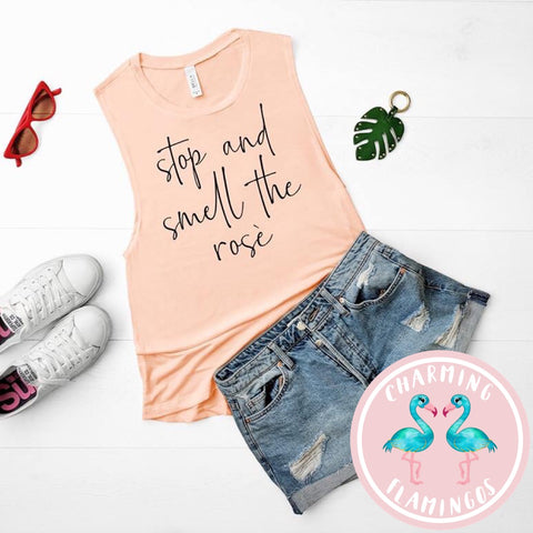 Stop and Smell The Rose' Graphic Tank