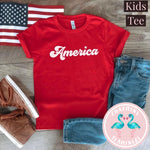 America Red Kids Graphic Tee