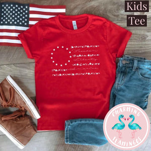 Old Glory Red Kids Graphic Tee