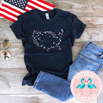 USA Star Kids Navy Graphic Tee